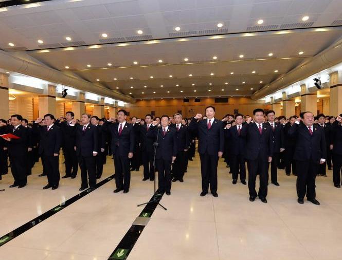 12月4日上午,最高检举行检察官宣誓仪式