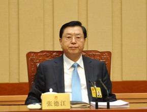 张德江委员长出席十四次会议第二次全体会议