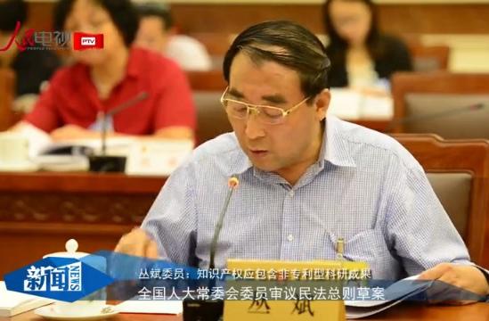 丛斌委员:知识产权应包含非专利型科研成果