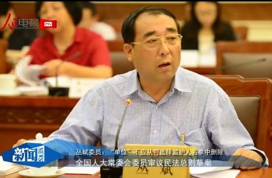"""丛斌委员:""""单位""""不应从可选择监护人名单中删除"""