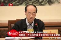 万鄂湘:立法应明确工商部门为主要监管者