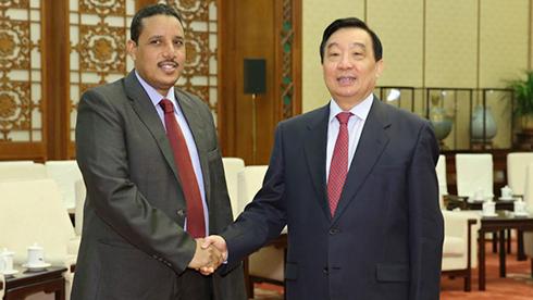 王晨会见苏丹全国大会党干部考察团