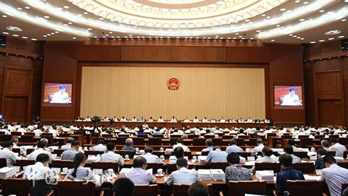 十三届全国人大常委会第三次会议举行第二次全体会议